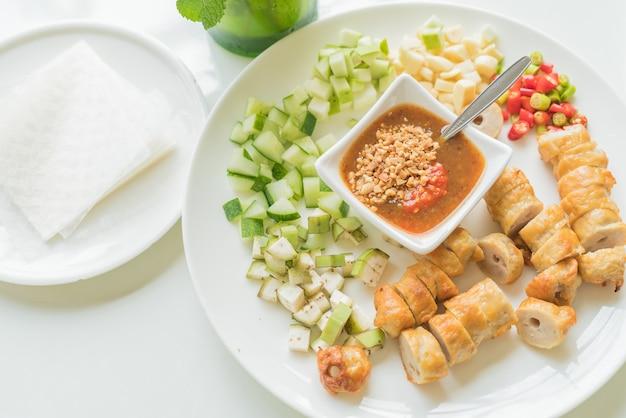 Vietnamesische fleischbrot wraps