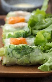 Vietnamesische lebensmittelfrühlingsrollen