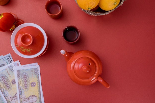Vietnamesisches geld vietnamesische dong neujahrsdekoration festivaldekorationen