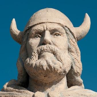 Viking-statue in gimli, manitoba kanada