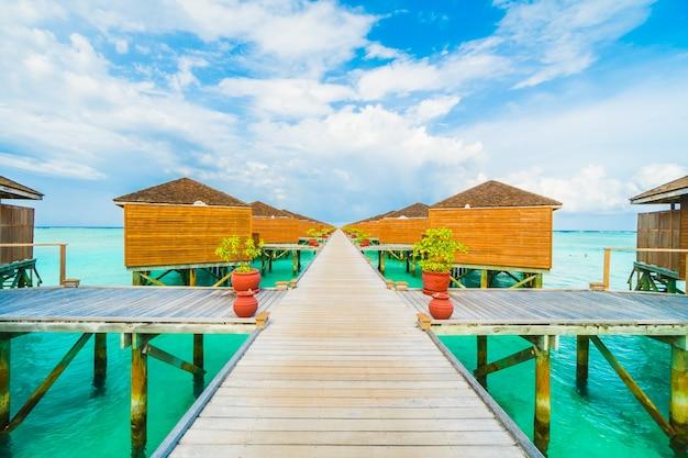 Villa natur wasser reise hintergrund
