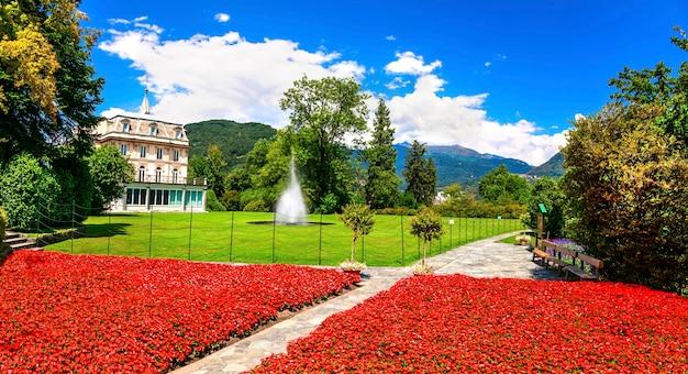 Villa taranto mit schönen gärten. lago maggiore, norditalien