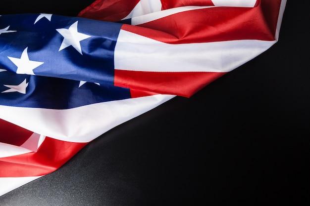 Vintage amerikanische flagge mit platz für text