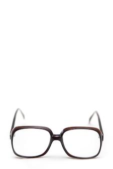 Vintage antike brille mit copyspace