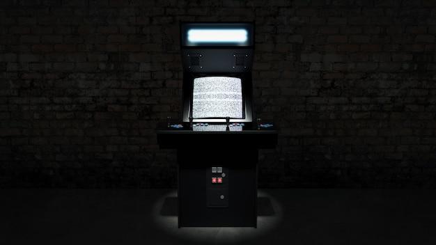 Vintage arcade-spielautomat 3d-rendering