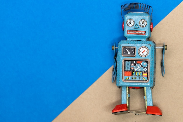 Vintage blechspielzeug roboter