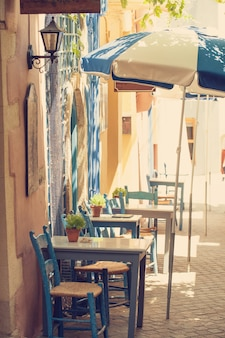 Vintage café in der innenstadt