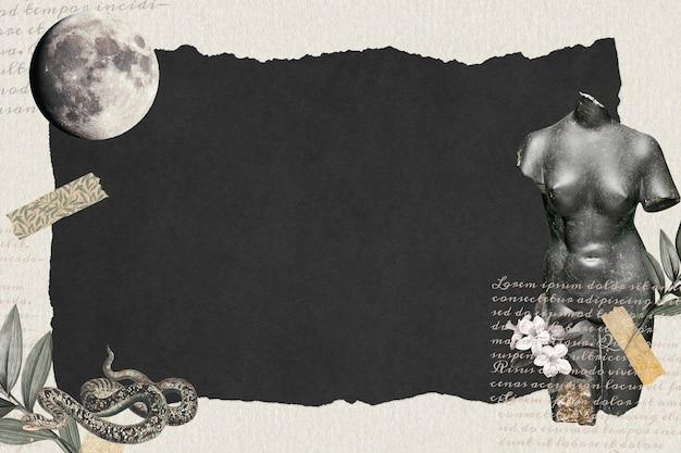 Vintage collage tapete dunkle hintergrundtapete, papierstruktur mit designraum