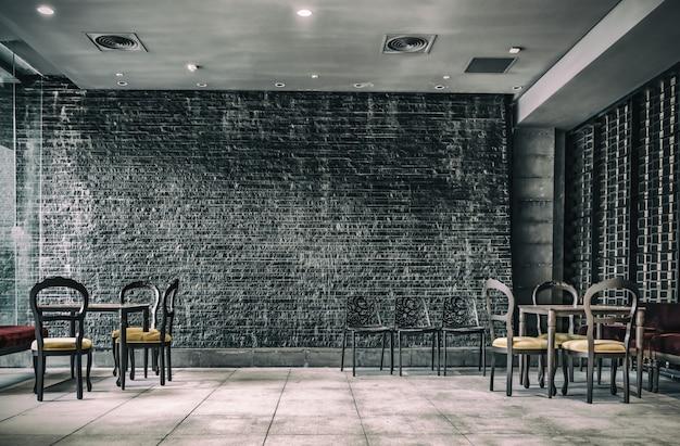 Vintage-dekoration im inneren restaurant
