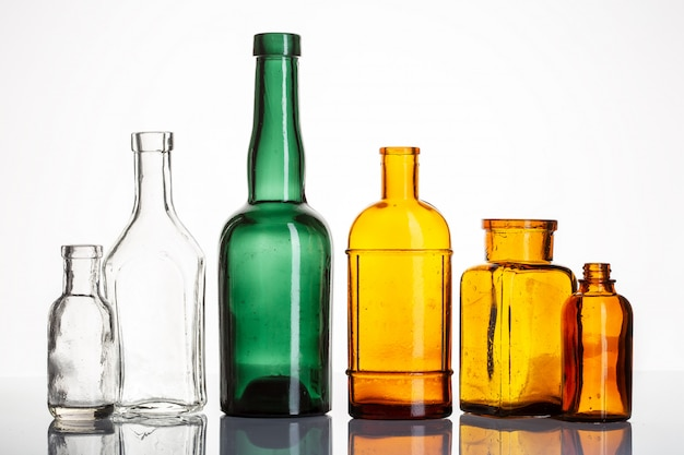 Vintage drogerie- oder apothekenflaschen