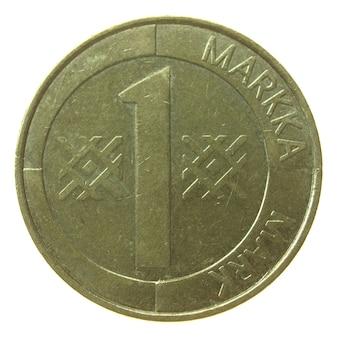 Vintage finnische münze isoliert