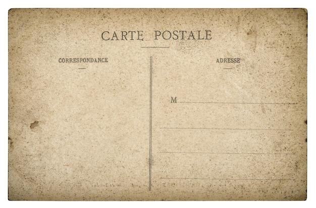 Vintage gebrauchte postkarte. papierhintergrund im retro-stil