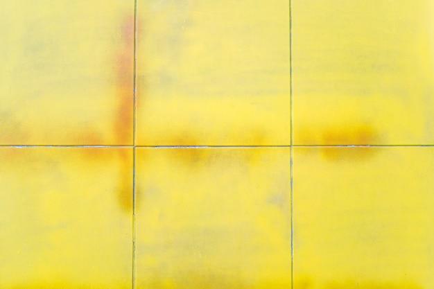 Vintage gelbe karierte textur. abstrakter geometrischer hintergrund.