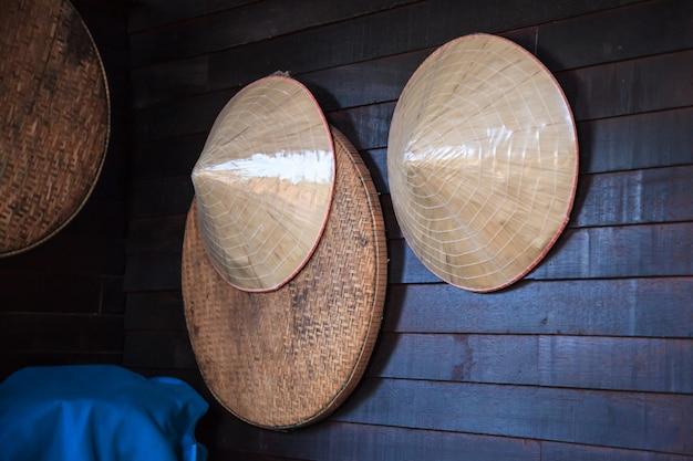 Vintage gewebter bambus