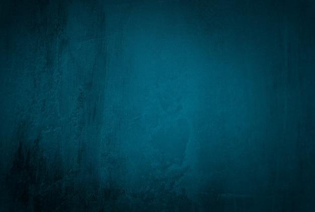 Vintage grunge blaue beton textur studio wand hintergrund mit vignette.