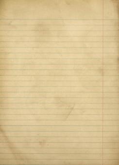 Vintage grungy liniertes papier