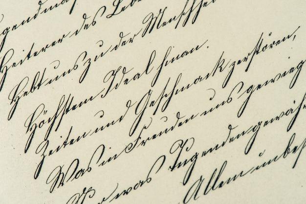 Vintage-handschrift. antikes manuskript. im alter von papierhintergrund. getöntes bild im retro-stil