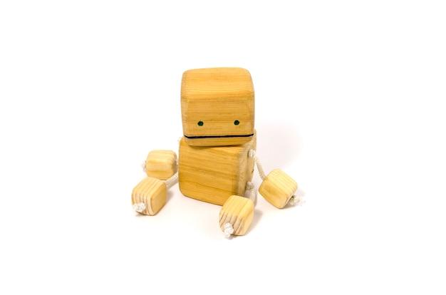 Vintage holzroboter