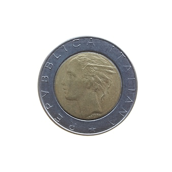 Vintage italienische münze isoliert