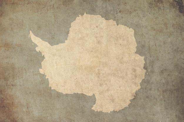 Vintage karte der antarktis