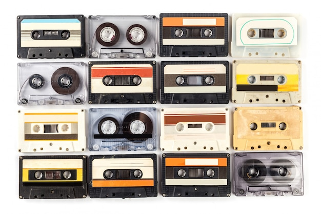Vintage kassette isoliert