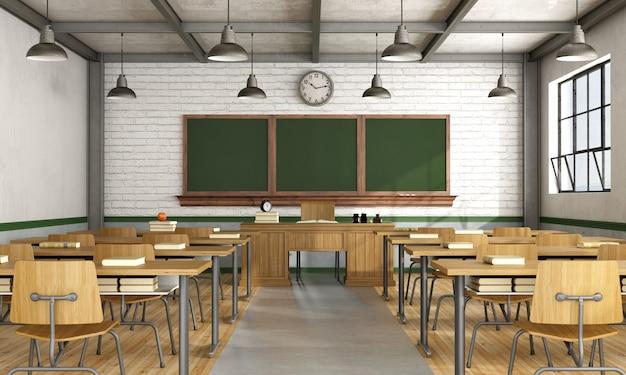 Vintage klassenzimmer ohne schüler