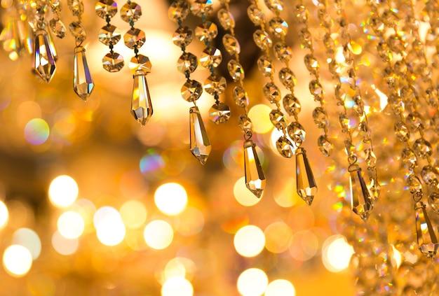 Vintage kristalllampe details