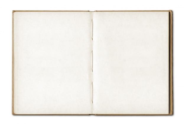 Vintage leere offenes notizbuch