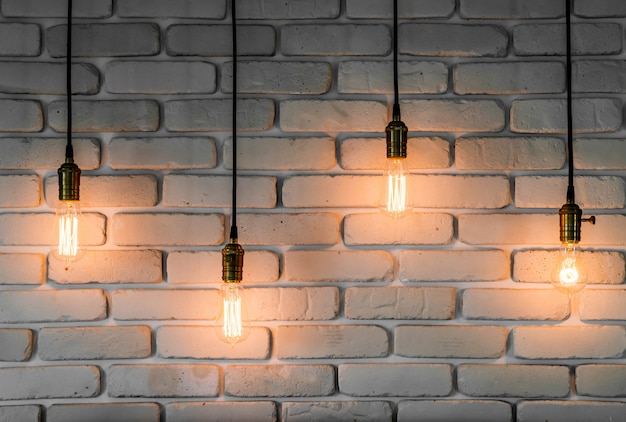 Vintage licht lampendekoration