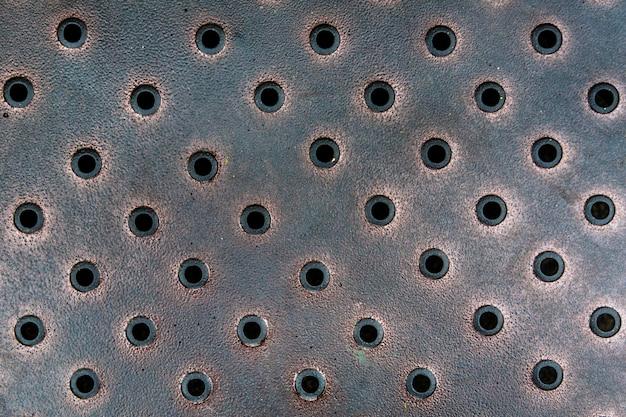 Vintage lochblech aus bronze