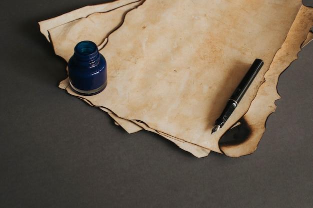 Vintage papier und tinte