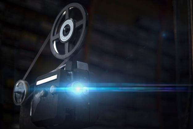 Vintage projektor auf rolle