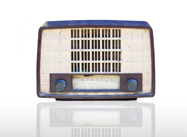Vintage radio isoliert