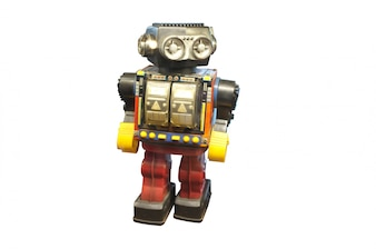Vintage Roboter Spielzeug