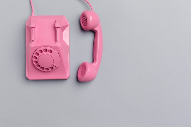 Vintage rosa telefon