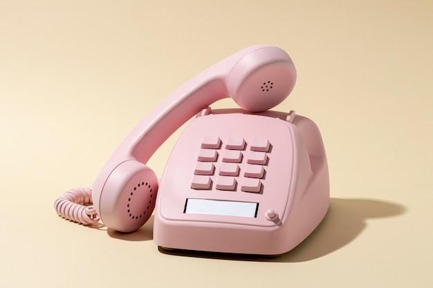 Vintage rosa telefonsortiment