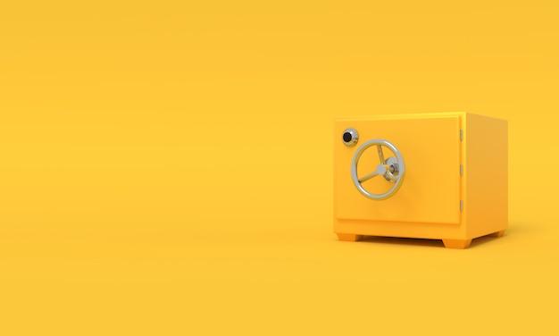 Vintage safe deposit 3d-rendering.
