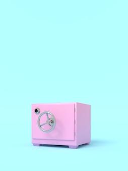 Vintage safe. illustration mit leerem platz für text. vertikale ausrichtung. 3d-rendering