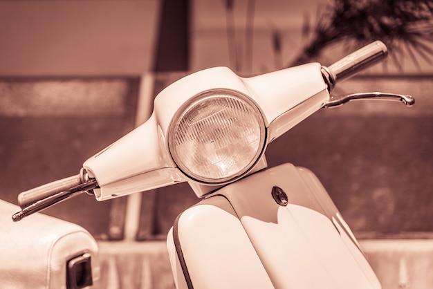 Vintage scheinwerferlampe motorrad