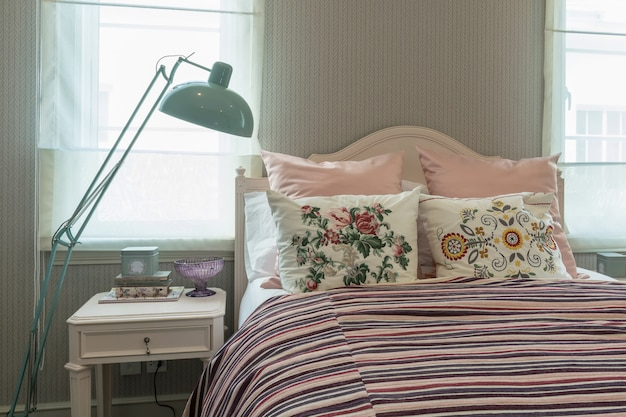 Vintage schlafzimmer interieur