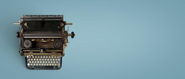 Vintage schreibmaschine-header. retro-maschinentechnologie