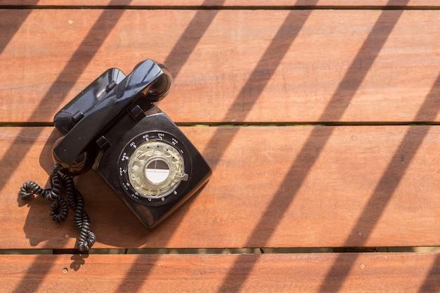Vintage schwarzes telefon