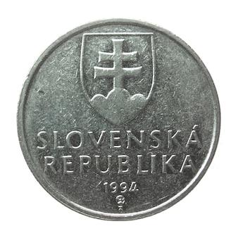 Vintage slowakische münze