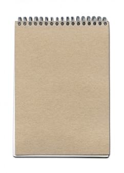 Vintage spirale schließen notebook