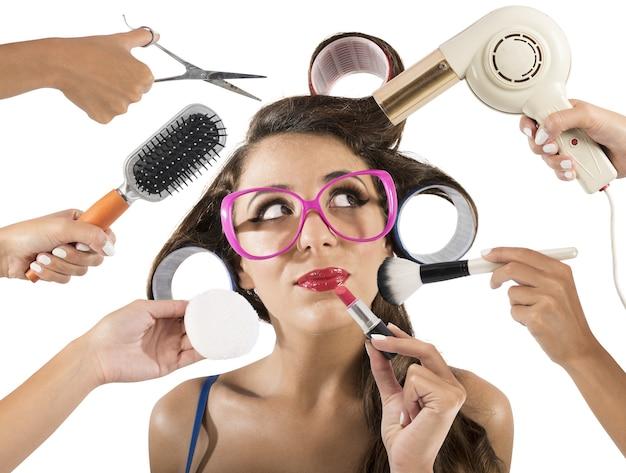 Vintage-stil und make-up