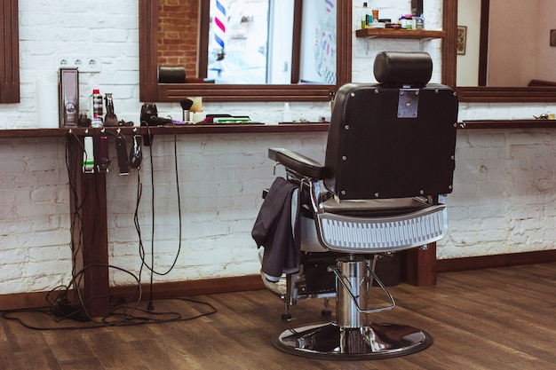 Vintage stuhl im friseursalon