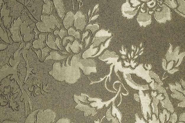Vintage tapisserie textur hintergrund mit blumenornament