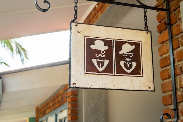 Vintage toilette zeichen