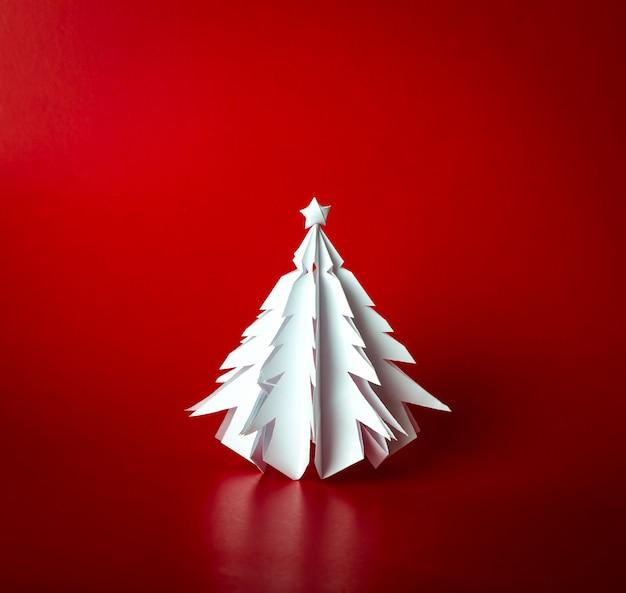 Vintage weihnachtspostkarte mit echtem papier weihnachtsbaum