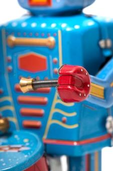 Vintage zinn roboter spielzeug